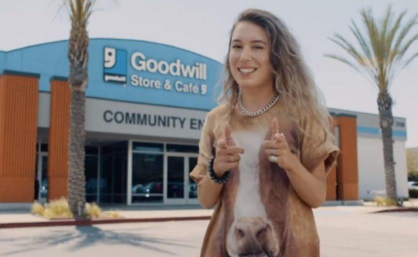 Kristen McAtee shopping at goodwill
